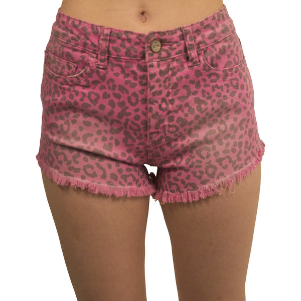 Leopard Print High Waisted Shorts - Anonymous L.A. - 3