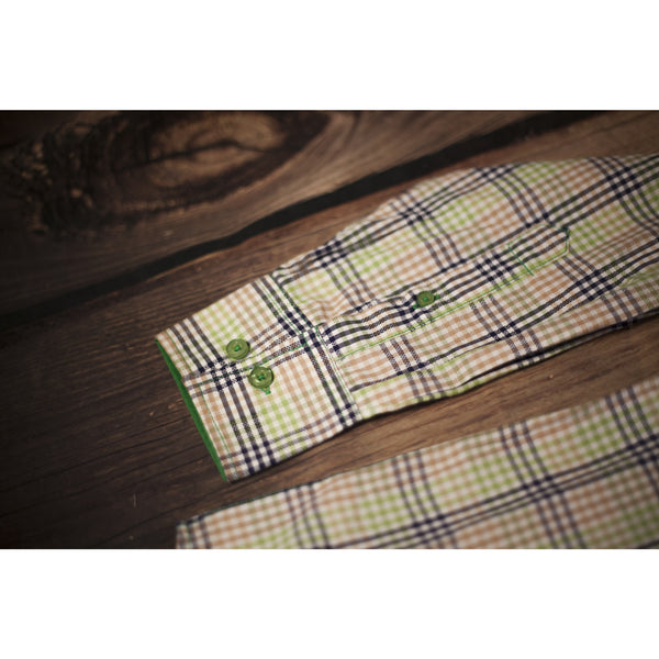Platini Plaid Roll Up Sleeve - Green