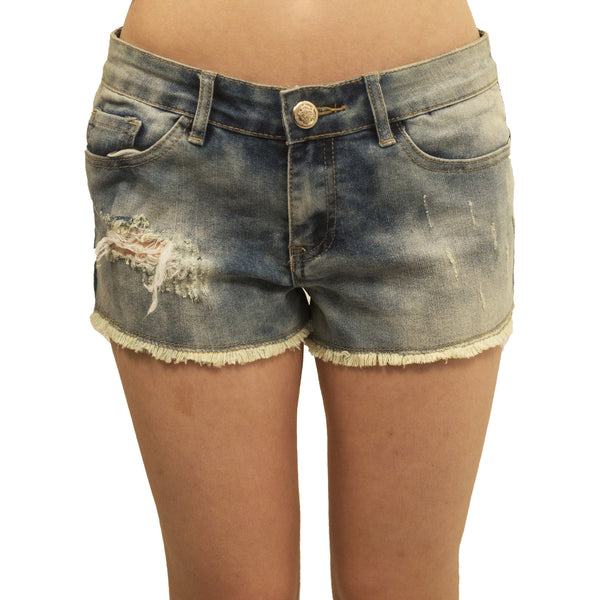Project 18 Distressed Denim Cut Offs - Anonymous L.A. - 1