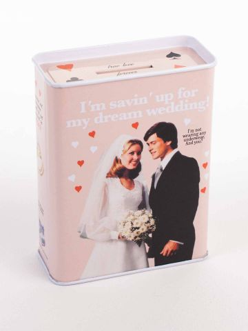 Savin Up For A Dream Wedding Tin Bank