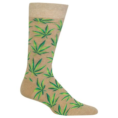 Men's Marijuana Crew Socks