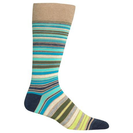 Men's Variegated Stripe Crew Socks