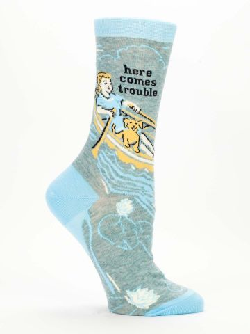 Here Comes Troble Crew Socks