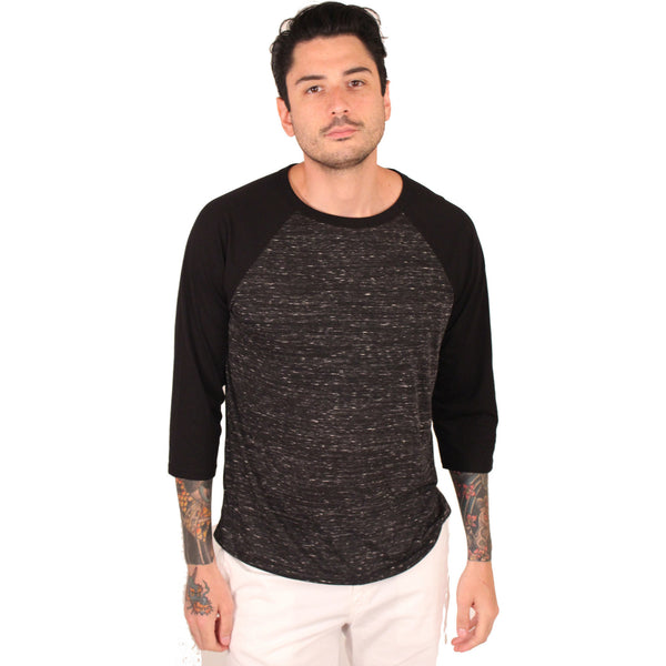 Bella + Canvas Adult 3/4 Sleeve Blended Baseball Tee - Anonymous L.A. - 4