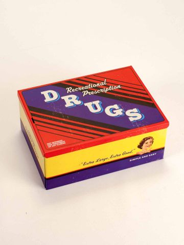 Recreational Drugs Tin Cigar Box