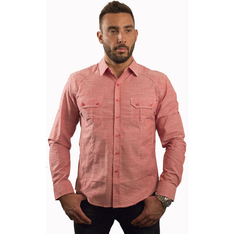 CD-4211 Patch Pocket Chambray L/S Shirt - Anonymous L.A. - 1