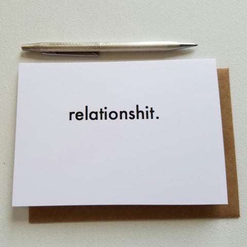 Relationshit Greeting Card - Anonymous L.A.