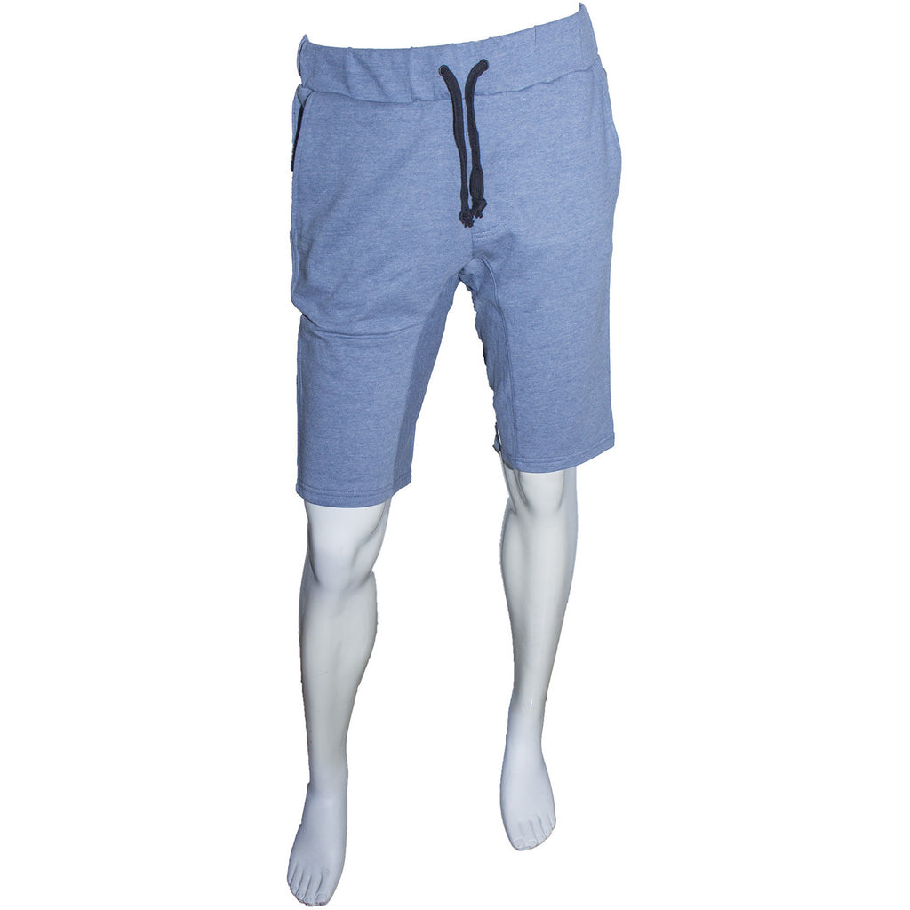 Mach French Terry 3/4 Shorts (Blue) - Anonymous L.A.