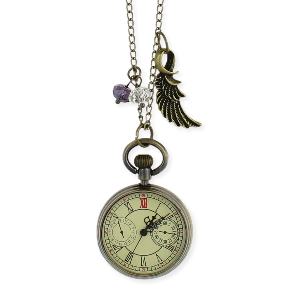 Roman Numeral Pocket Watch Long Necklace - Anonymous L.A.