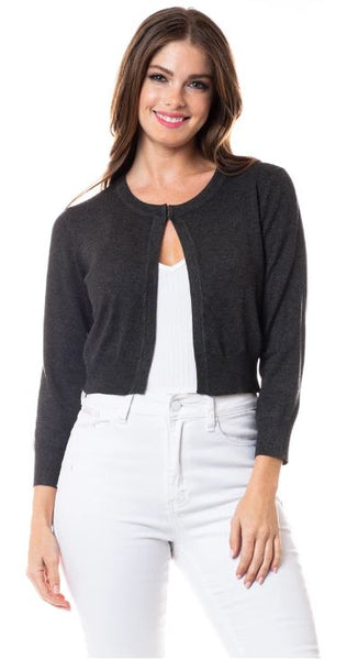 Cropped Bolero Knit Cardigan