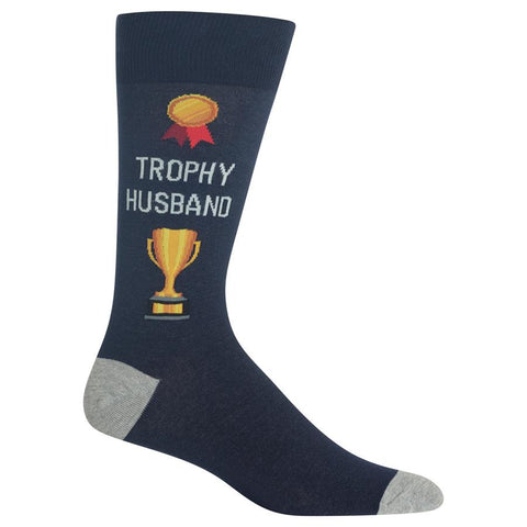 Men's Trophy Husband Crew Socks