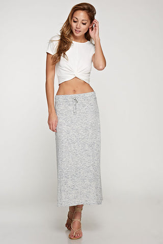 Midi Length Sweater Knit Skirt
