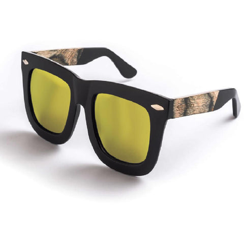Silvano Matte Black & Yellow Fade Sunglasses - Anonymous L.A.