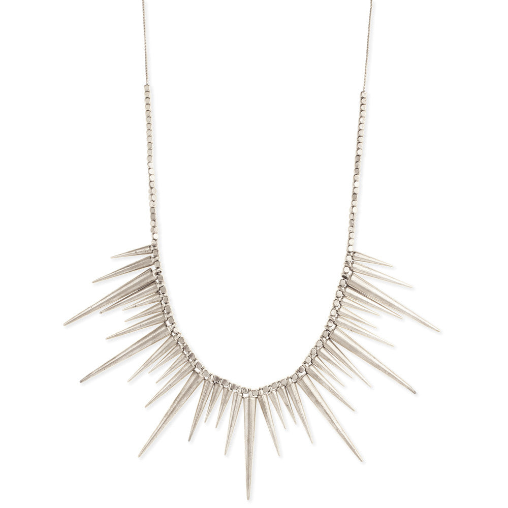 Silver Metal Spike Necklace - Anonymous L.A.