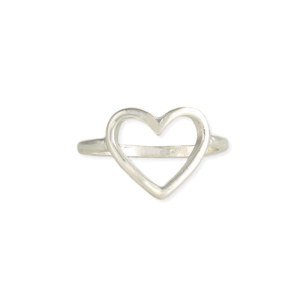 Heart Silver/Gold Wave Ring