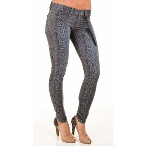 Flying Monkey Snake Print Stretch Skinny Jeans L7392 - Anonymous L.A.