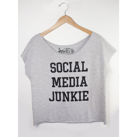 Social Media Junkie French Terry Dollman Tee