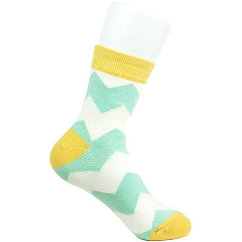 Look Footwear Green/Yellow Zig Zag Socks - Anonymous L.A.