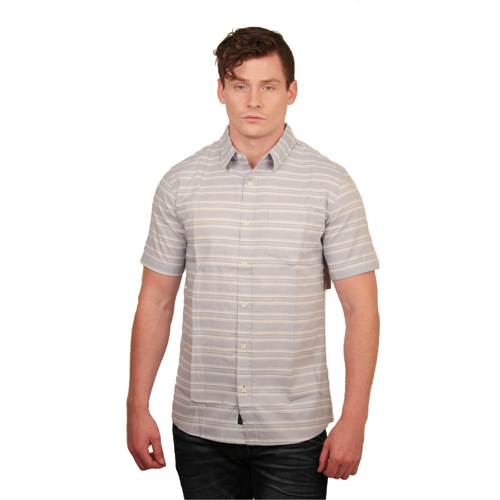 BG9227N Men's S/S Striped Button Up Shirt - Anonymous L.A. - 1