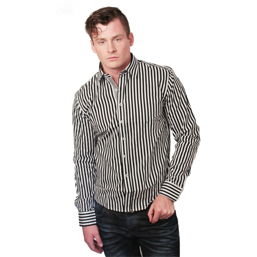 CD-4217 Stripe Dress Shirt - Anonymous L.A. - 1