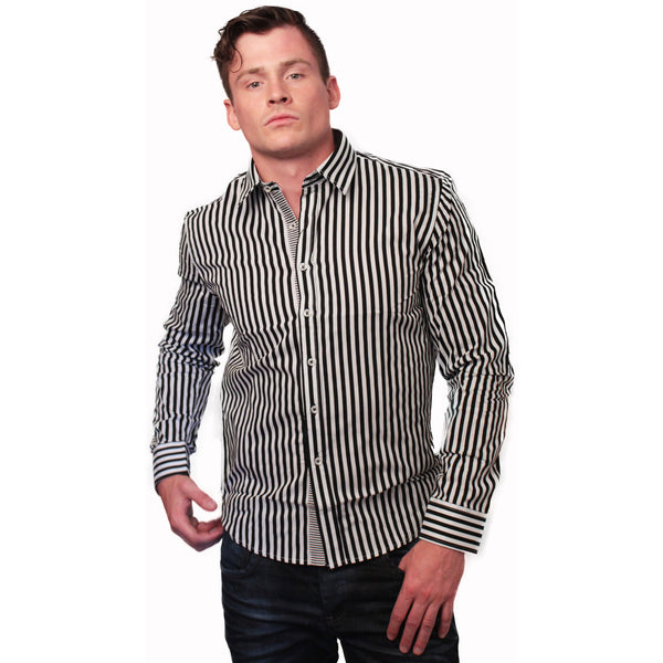 CD-4217 Stripe Dress Shirt - Anonymous L.A. - 4