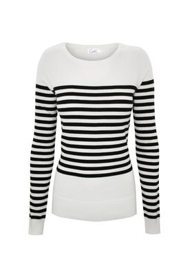 Cielo Round Neck Striped Pullover