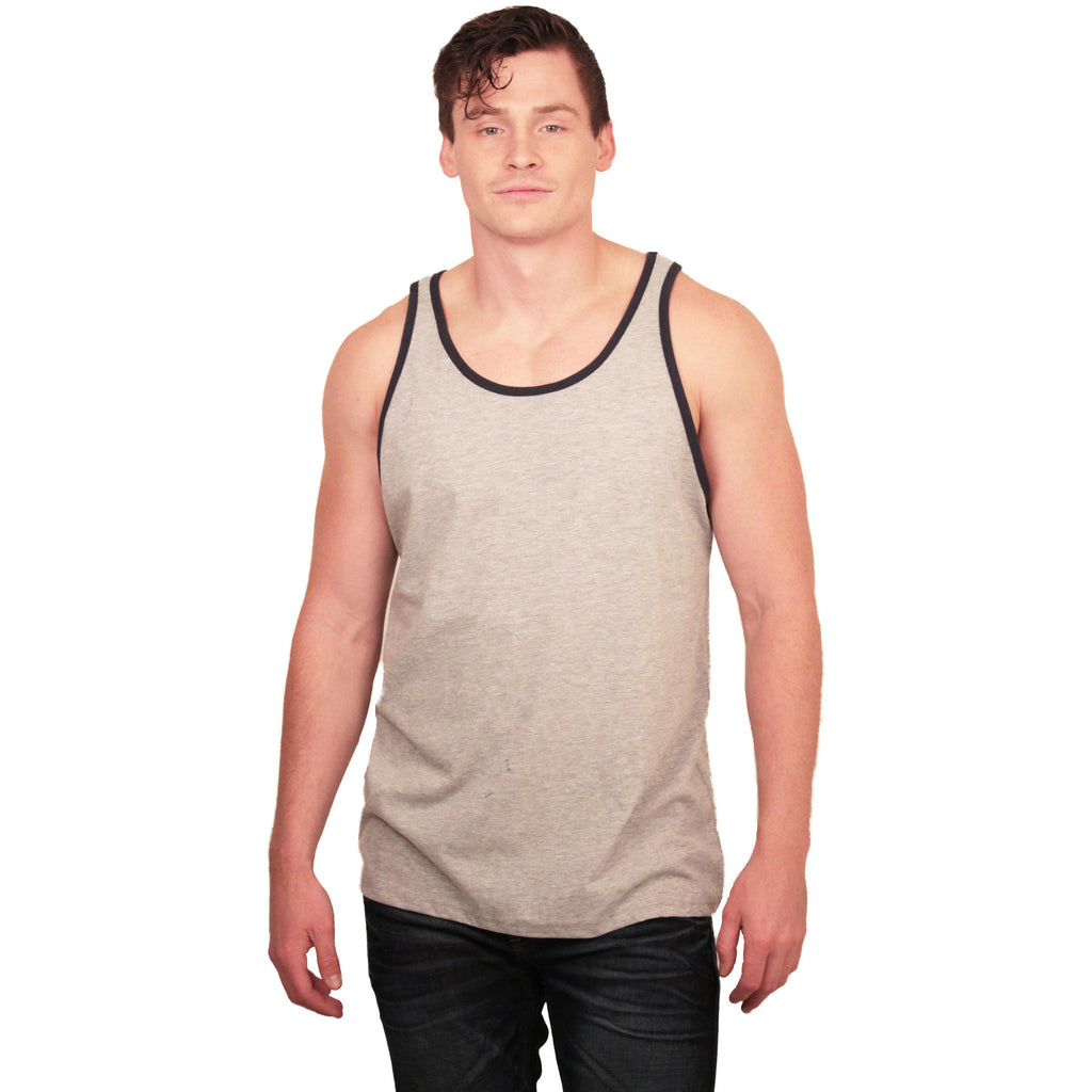 Unisex Jersey Tank Tops With Trim - Anonymous L.A. - 1