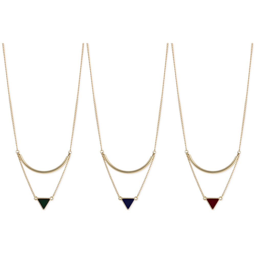 Gold Bar & Triangle Necklace - Anonymous L.A.