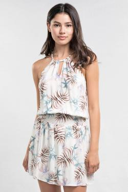 Hawaiian Floral Mini Dress