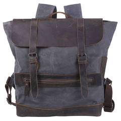 Distressed Leather And Canvas City Knap