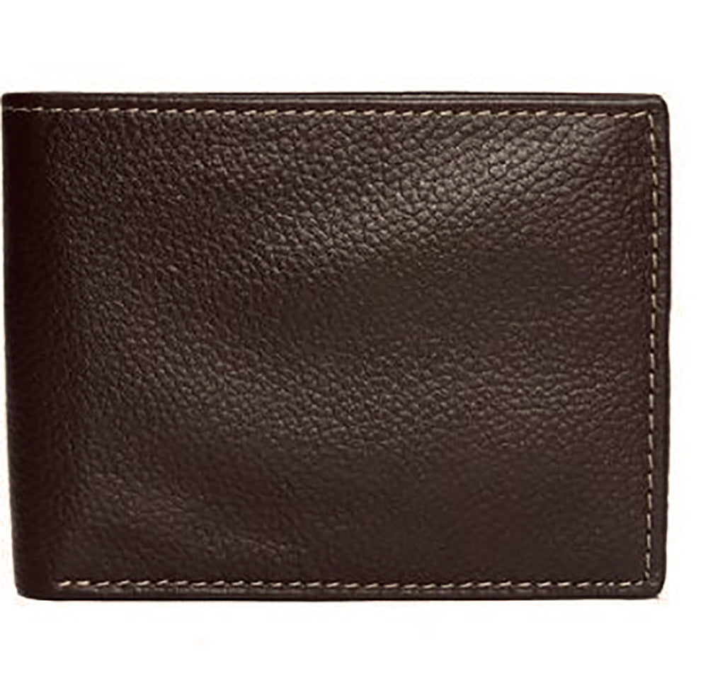 Dark Brown Genuine Leather Wallet