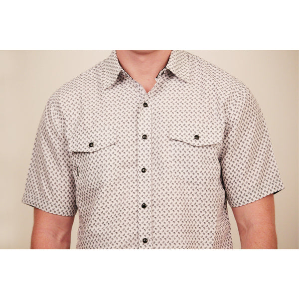 CD-4349 S/S White/Black Piasley Shirt - Anonymous L.A. - 2