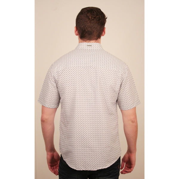 CD-4349 S/S White/Black Piasley Shirt - Anonymous L.A. - 3