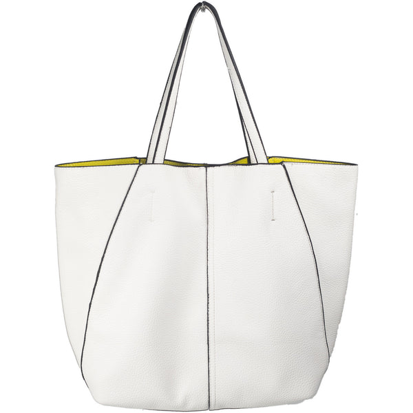 Reversible Shoulder Tote in White/Lemon - Anonymous L.A. - 1
