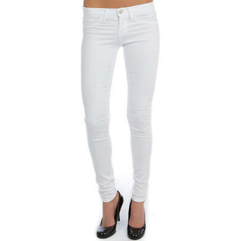 High Waist Skinny Jeans - White - Anonymous L.A.