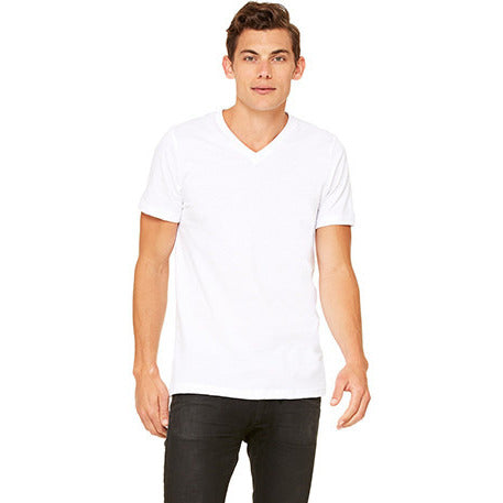 White Jersey V-Neck - Anonymous L.A.