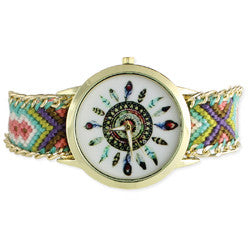 Woven Band Feathers Watch - Anonymous L.A.