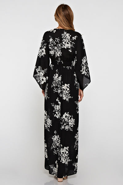 All Over Floral Printed Maxi Dress