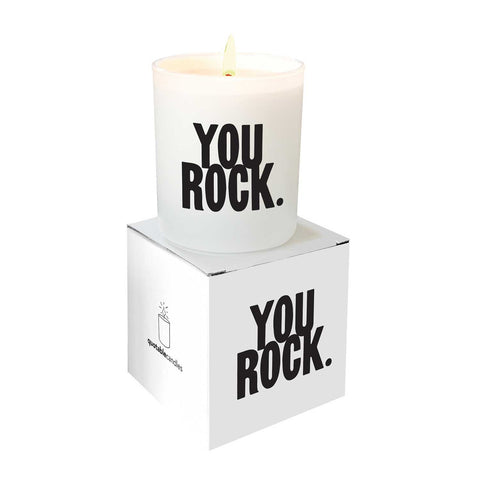 Quotable Candles: You Rock - Anonymous L.A.