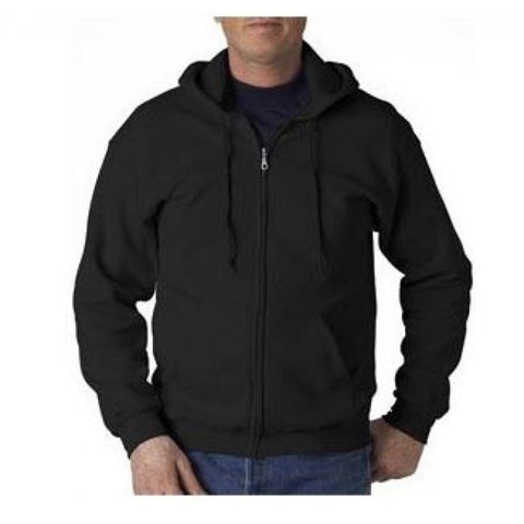 Black Zip-Up Hoodie Sweatshirt