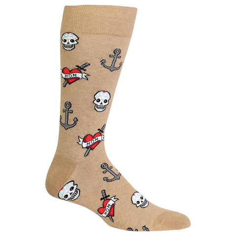 Men's Tattoo Crew Socks
