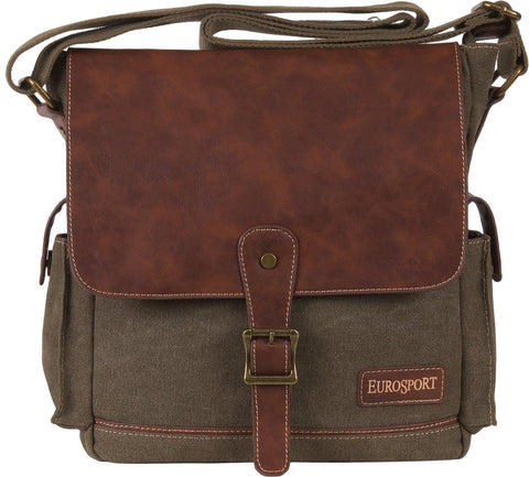 Canvas Messenger Bag - Olive
