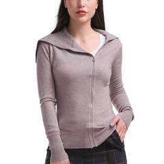 Zippered Cowlneck Jacket
