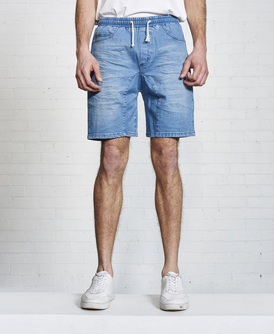 Denim Jogger Short
