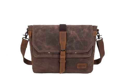 Waxed Canvas & Leather Briefcase/ Messenger Bag