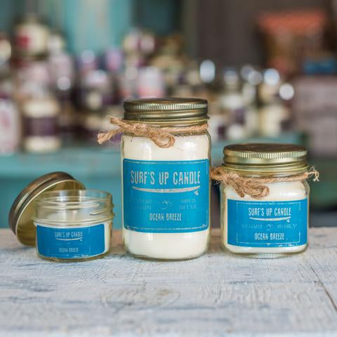 Ocean Breeze Mason Jar Candle 4oz Mini