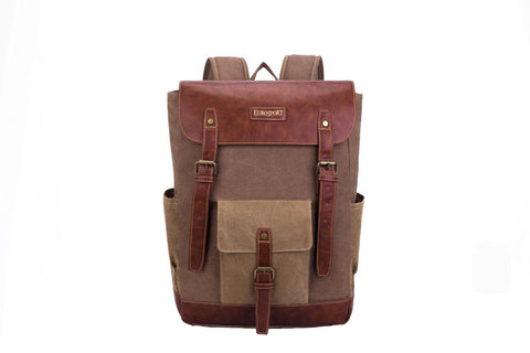 Large Canvas Backpack W/ Multi Pockets