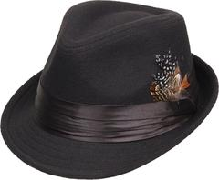 Kenny K FH70-A Fedora With Removable Feathers