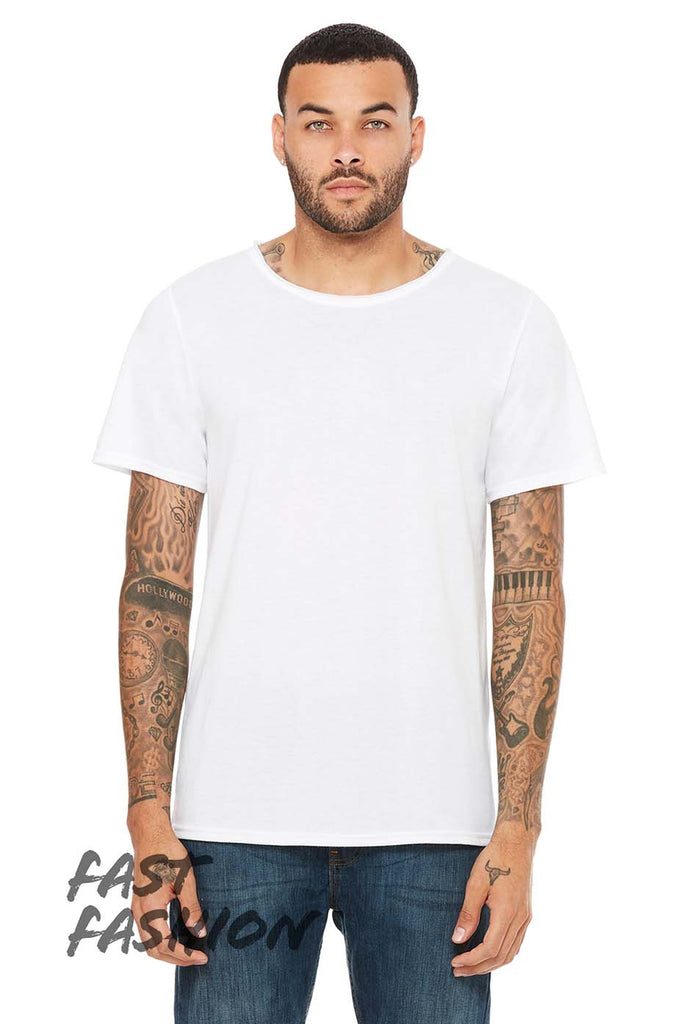 Unisex Triblend Raw Neck Tee