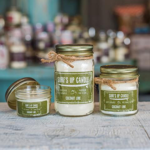 Coconut Lime Mason Jar Candle 4oz Mini
